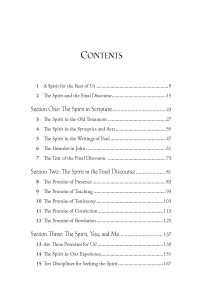Table of Contents for A Spirit for the Rest of Us