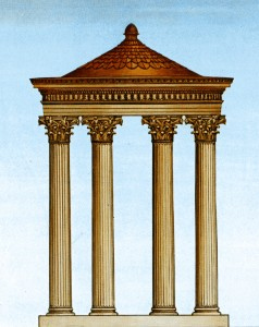 Artist's rendition of the Babbius Monument