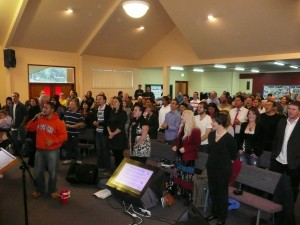 Our Sunday morning worship time at the Otumoetai congregation