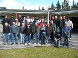 """Group picture of ministers attending the """"leadership"""" portion of Men's Challenge"""